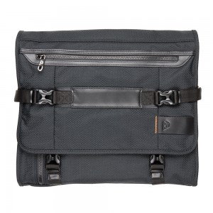 Front View PLIQO Carry-On Orange Lining