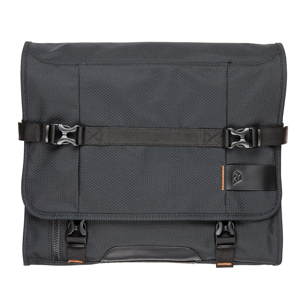 Front View PLIQO Pack-in Orange Lining