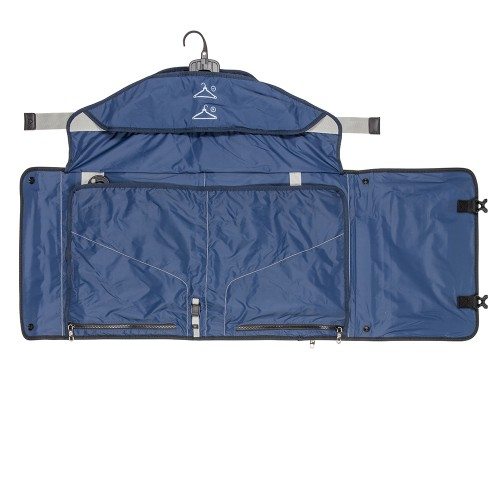 Sock and Tie Pockets on PLIQO Carry-On Blue Lining Bag