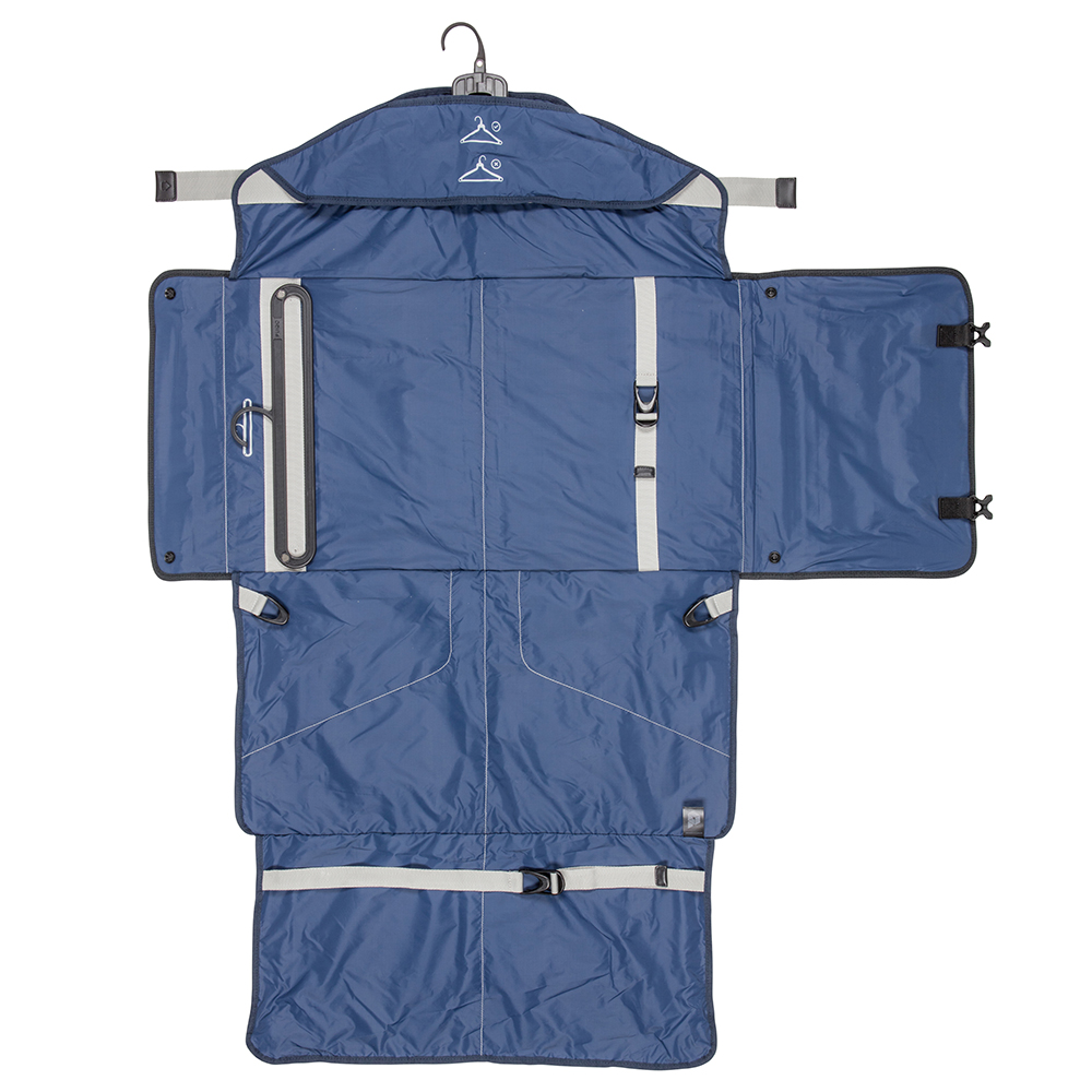 Fully Open PLIQO Carry-On Blue Lining Travel Bag