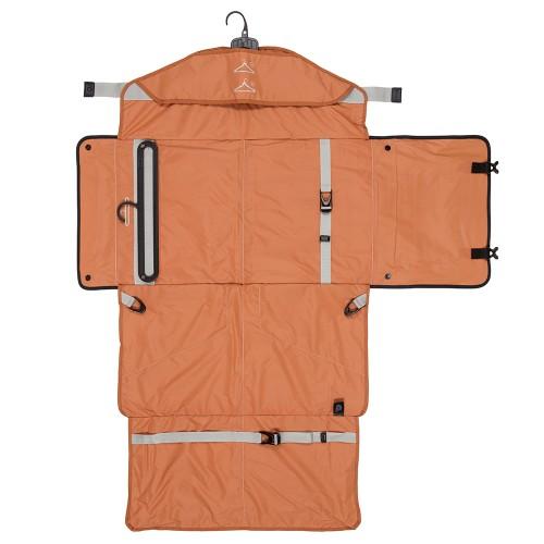 Full Open PLIQO Carry-On Orange Lining