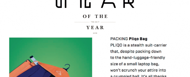 WIRED UK Magazine review of the PLIQO Bag